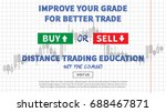 distance trading education... | Shutterstock .eps vector #688467871
