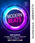 modern sound party music poster.... | Shutterstock .eps vector #688469374