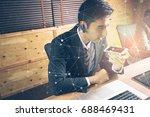 hands free calling with smart... | Shutterstock . vector #688469431