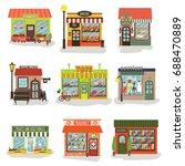 windmills of different shops... | Shutterstock .eps vector #688470889