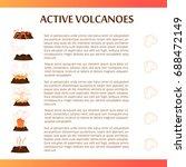 active volcanoes banner.... | Shutterstock .eps vector #688472149
