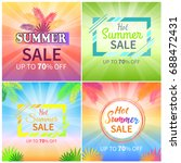 hot summer sale up to 70  off... | Shutterstock .eps vector #688472431