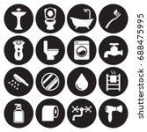 bathroom icon set | Shutterstock .eps vector #688475995
