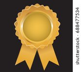 gold label   award with... | Shutterstock .eps vector #688477534