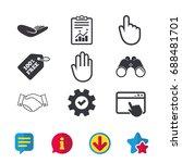 hand icons. handshake...