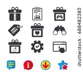 gift box sign icons. present...