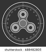 hand fidget spinner icon in... | Shutterstock .eps vector #688482805