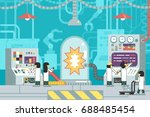 laboratory scientific... | Shutterstock .eps vector #688485454
