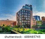 manhattan  new york city   june ... | Shutterstock . vector #688485745