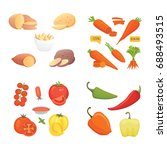 farming production  vegetables... | Shutterstock .eps vector #688493515