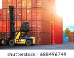 industrial logistics containers ... | Shutterstock . vector #688496749