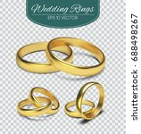 Gold Vector Wedding Rings...