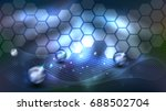 abstract background with... | Shutterstock . vector #688502704