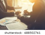 businessperson signing contract ... | Shutterstock . vector #688502761