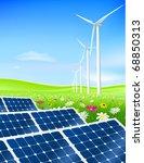 vector green energy field with... | Shutterstock .eps vector #68850313