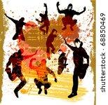 dancing boys silhouette | Shutterstock .eps vector #68850469