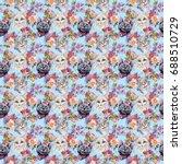 cat wild animal pattern in a... | Shutterstock . vector #688510729