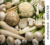 White Vegetables Composition
