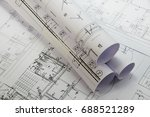 plans of building | Shutterstock . vector #688521289