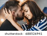 young couple in love hug each... | Shutterstock . vector #688526941