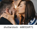 young couple in love hug each... | Shutterstock . vector #688526971