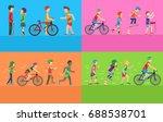set of summer sport concepts.... | Shutterstock . vector #688538701