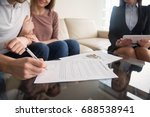 signing rental agreement by... | Shutterstock . vector #688538941