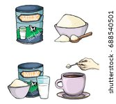 vector set of cartoon... | Shutterstock .eps vector #688540501