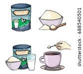 vector set of cartoon... | Shutterstock .eps vector #688540501