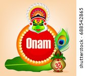 happy onam  easy to edit ... | Shutterstock .eps vector #688542865