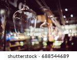 wine's glasses hanging on bar ... | Shutterstock . vector #688544689