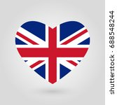 uk flag in the heart shape.... | Shutterstock .eps vector #688548244