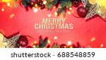 christmas holiday background.   Shutterstock . vector #688548859