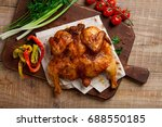 roasted chicken tabaka with...   Shutterstock . vector #688550185