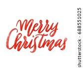 merry christmas calligraphy ... | Shutterstock . vector #688551025