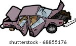 Cartoon Of A Wrecked Automobile ...