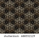 seamless tiled pattern of... | Shutterstock .eps vector #688552129