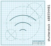 vector blueprint wifi icon on...