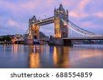 tower bridge in london  uk ... | Shutterstock . vector #688554859