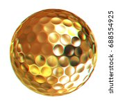 3d rendering of a golfball in... | Shutterstock . vector #688554925