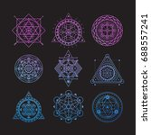 set of bright vector sacred... | Shutterstock .eps vector #688557241