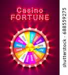 casino fortune neon. isolated... | Shutterstock .eps vector #688559275