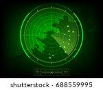 vector radar scan display   Shutterstock .eps vector #688559995