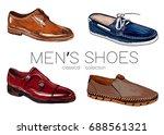 set of men's shoes. sketch. | Shutterstock .eps vector #688561321