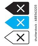 delete backspace key icon on... | Shutterstock .eps vector #688563205