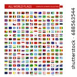 all world vector flags vector... | Shutterstock .eps vector #688563544