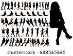 vector  isolated  set of... | Shutterstock .eps vector #688565665