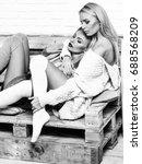 girls or two sexy cute women... | Shutterstock . vector #688568209