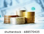 coin money with finance and... | Shutterstock . vector #688570435