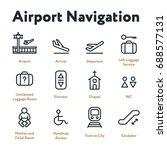 airport navigation wayfinding...   Shutterstock .eps vector #688577131